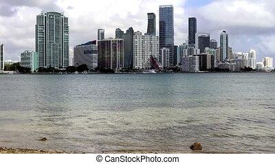 Miami time lapse shot