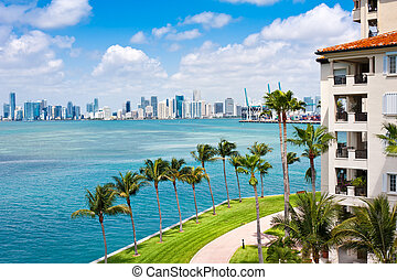 Miami Tropical Paradise - Panoramic view of Downton Miami ...