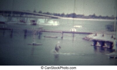 MIAMI, USA -1951: A trained dolphin - Original vintage 8mm...