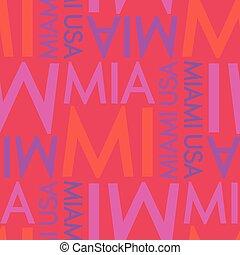 Miami, USA seamless pattern