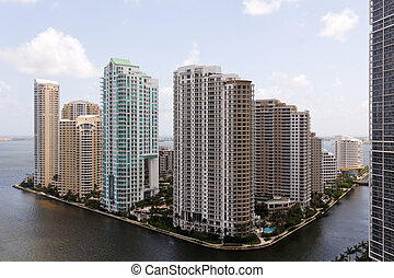 Miami View towards Brickell Key