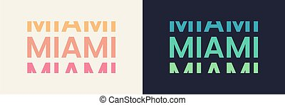 Miami word text in modern minimal style.