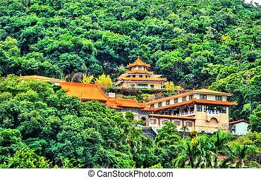Miao Temple on a hill in Taipei, Taiwan