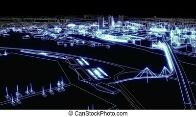 miasto, świetlany