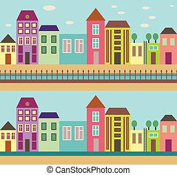 miasto, 1760, ulica, -
