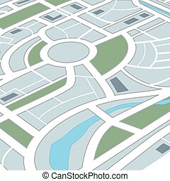 miasto, abstrakcyjny, mapa