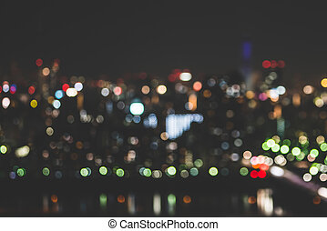 miasto, abstrakcyjny, plama, tło, lekki