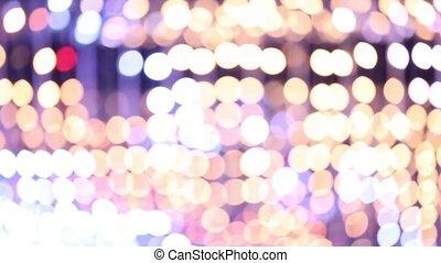 miasto, aleja, rok, nowy, ozdobny, oświetlenie, boże ...