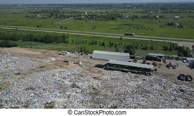 miasto, antena, rodzina, odpadki, pieniądze, jakiś, dump.,...