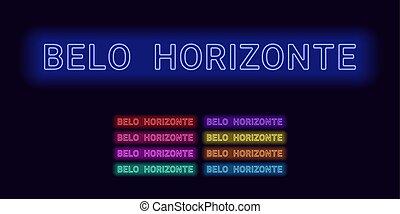 miasto, belo, nazwa, neon, horizonte