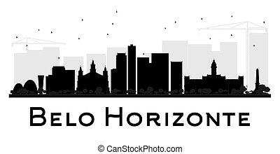 miasto, belo, silhouette., sylwetka na tle nieba, ...