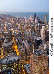 miasto, chicago.
