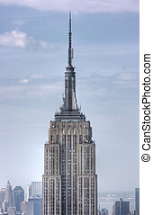 miasto, do góry, stan, york, nowy, zamknięcie, imperium,...