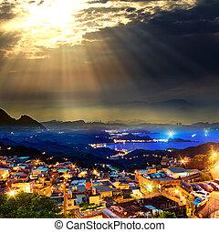 miasto, góra, wybrzeże