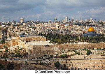 miasto, jerozolima, święty