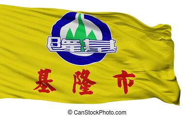 miasto, keelung, bandera, porcelana, odizolowany