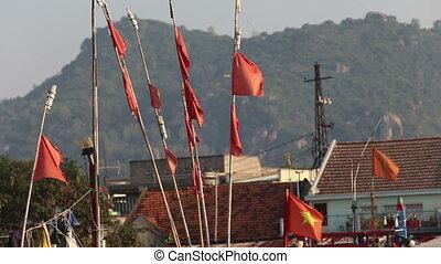 miasto, klapa, vietnamese, wędkarski, chorągwie,...