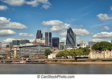 miasto londyna, skyline.