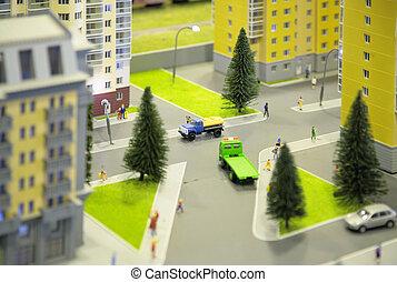 miasto, miniatura