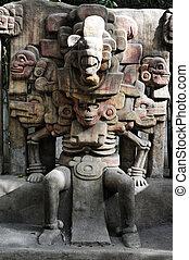 miasto, muzeum, anthropolog, krajowy, meksyk