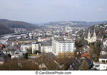 miasto, na północ rhine-westphalia, siegen, niemcy, prospekt