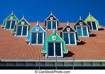 miasto, Niderlandy,  zaandam, Architektura, Hala