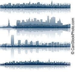 miasto nowego yorku skyline