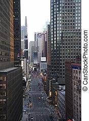 miasto nowego yorku, ulica.
