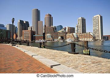 miasto, od, boston.