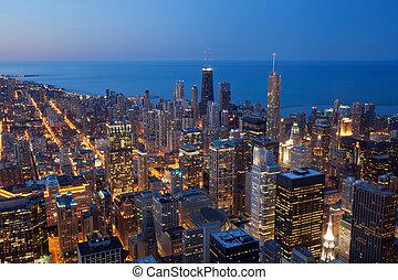 miasto, od, chicago.