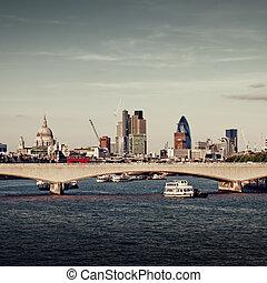 miasto, od, london.