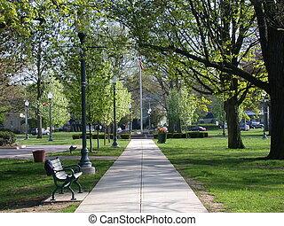 miasto park, ścieżka