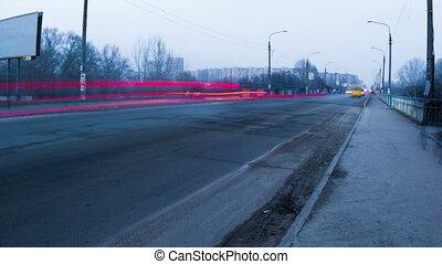 miasto, pomyłka, światła, ulica, handel, czas