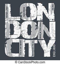 miasto, projektować, typografia, londyn