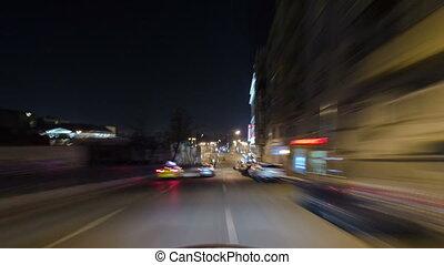 miasto, przejechać, hyperlapse, ulice, rosja, handel, wozy, timelapse, moskwa