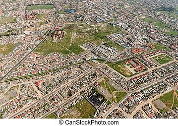 miasto, przylądek, antena, (suburb), prospekt
