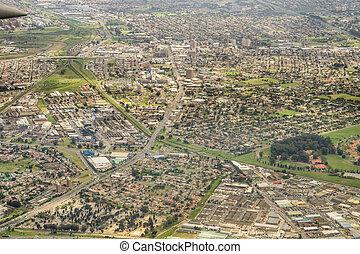 miasto, przylądek, antenowy prospekt