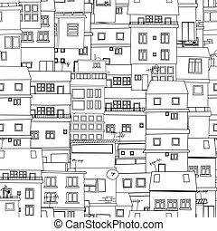 miasto, rys, seamless