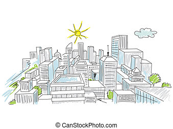 miasto, rys