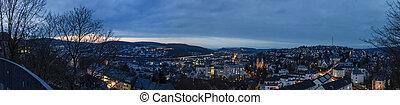 Miasto,  siegen, Niemcy,  panorama