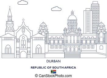 miasto skyline, afryka, durban, południe
