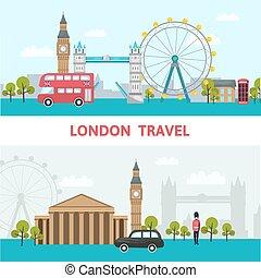 miasto skyline, londyn, afisz