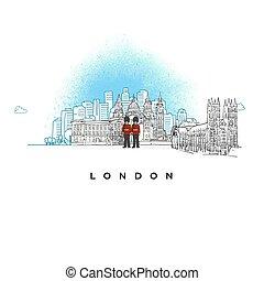 miasto skyline, londyn, uk