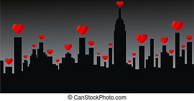 miasto skyline, nowy york
