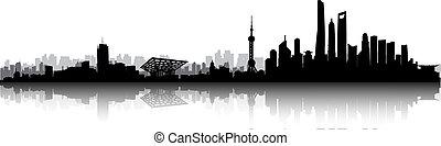 miasto skyline, szanghaj