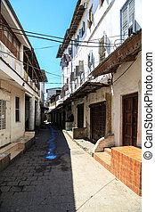 miasto, stary, ulica, brudny, afrykanin, prospekt
