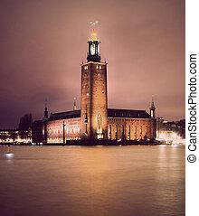 miasto, sztokholm, hala