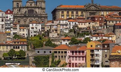 miasto, timelapse, stary, portugalia, porto, przebadany