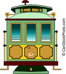 miasto, transport., tramwaj