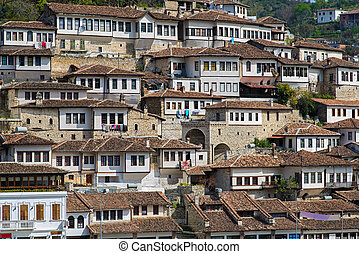 miasto, w, albania